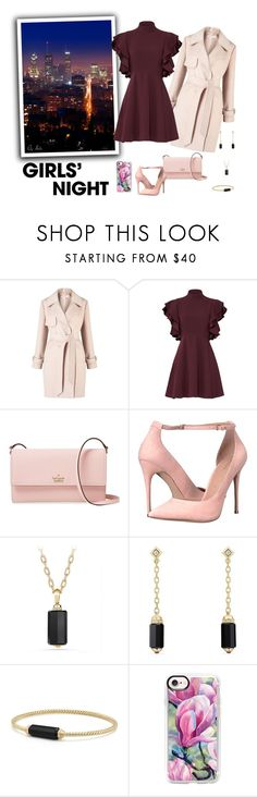 """Hey, Besties: Girls' Night - Female Girl"" by selene-cinzia ❤ liked on Polyvore featuring Belvedere, Miss Selfridge, Cinq à Sept, Kate Spade, ALDO, David Yurman, Casetify and girlsnight"