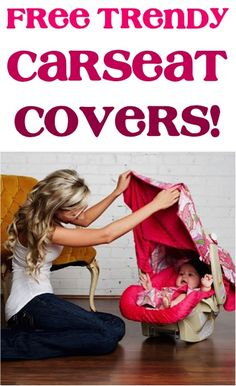 FREE Trendy Carseat Canopy Covers! {just pay s/h} - these make the BEST Baby Shower gifts, too!