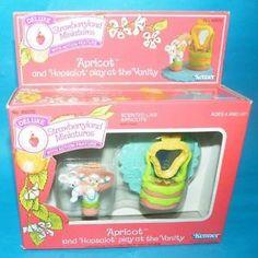 Strawberry Shortcake Boxed Misb Deluxe Miniatures Apricot Hopsalot