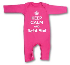 Exclusive 'Keep Calm and Feed Me' Baby-grow By Give Greetings