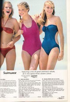Retrospace: Catalogs #14: Sears Fashion 1981 Sweet Girls, Cute Girls, 1980s Pop Culture, Swimsuits, Swimwear, Frocks, Catalog, Vintage Fashion, Feminine