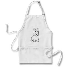 Scottish Terrier Dog Cartoon Aprons