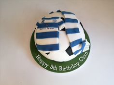 football birthday cake, QPR kit