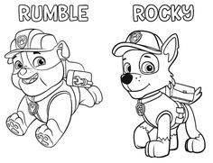 RUMBLE ROCKY COLORING PAGES