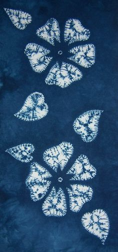Wild Roses again | Gorgeous shibori from Tela Shibori | via flickr