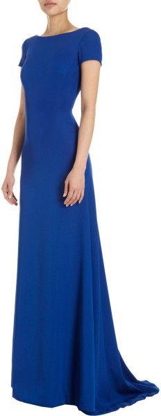 Derek Lam Blue Cap Sleeve Gown