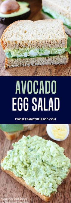 Avocado Egg Salad is the BEST egg salad! A great way to use up hard boiled eggs! #eggsalad #avocado #Easter #eggs #glutenfree #vegetarian