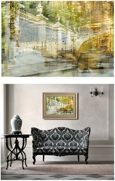 St Petersburg abstract art by Elena Anufrieva, city Photography, large wall art, green Living room decor, Watercolor artwork #green #etsyfinds #photography #print #wallart #homedecor #cityscape #stpetersburg