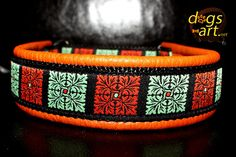 dogsart FLOWER QUARTER Martingale Leather Collar by dogsartcollars, $32.00