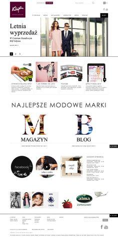 Klif Fashion – responsive website www.klif.pl / CHILID for Klif Fashion Mall / Agency: CHILID Creative Dir.: Anna Zarudzka Designer / Graphic Designer: Wojciech Trzpis, Anna Bil / Front-end developer: Marek Mrowiec, Kamil Ogórek