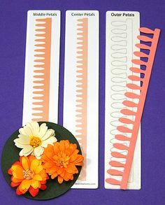 Dahlia & Daisy Quilling Dies @ Custom Quilling Supplies - These dies make it easy to create stunning quilled flowers.