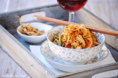 Fideos chinos con verduras
