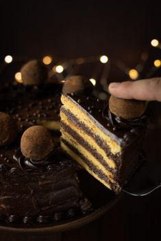Chocolate cake with Parisian cream © Reka Csulak Christmas Food Photography, Cake Truffles, Halloween Cakes, Cream Recipes, Chocolate Cake, Parisian, Holi, Cake Recipes, Cake Decorating