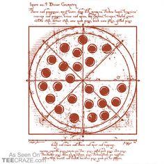 f9d66f37c Vitruvian Pizza T-Shirt | TeeCraze The Best T-Shirts Ever Made Pizza Puns
