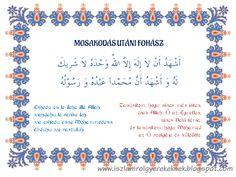 Mosakodás utáni fohász - Dua/prayer after wudu