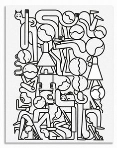 It's Nice That : Illustration: We like these squiggly drawings by Jonathan Calugi