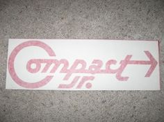 Compact Jr Trailer Decal