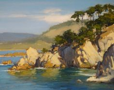 Across Blue Fish Cove - Study by Brian Blood - Oil