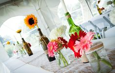 DIY wedding table decor