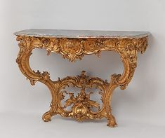 German Rococo Console table