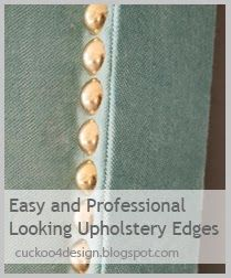 My Professional Looking Upholstery Edges with Cardboard Tack Strips