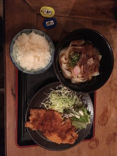 きしめん+トンカツ定食@名古屋