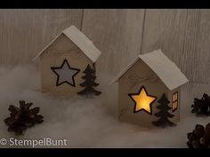 """Schneehäuschen """"Weihnachten"""" (cm+inch) mit Stampin'Up!® - YouTube"""