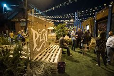 Don't have space for a town or neighborhood square? Then create a gathering Place from the district's lightly trafficked streets as seen here in Dallas' Deep Ellum quarter. A month of volunteer labor gave rise to a low-cost, #LQC pop-up plaza/park along three blocks of underutilized Crowdus Street. The event was a hit over four days, building momentum for more long-lasting interventions! #Placemaking #Ultralight