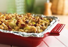 This savory stuffing gets the perfect amount of sweetness from apples and cranberries. Best of all, it's so easy to make!