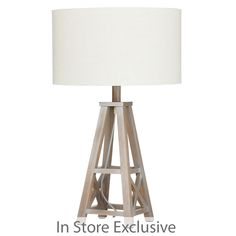 Add a little coastal charm to your décor with our Pier table lamp. This sophisticated lamp features a classic shade with a gorgeous four-legged timber base. The base has a chic, washed-out finish for a stylish nautical look.
