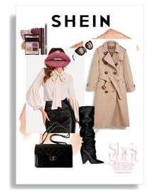"""""""SHEIN"""" by ionescumonica on Polyvore featuring Too Faced Cosmetics, Burberry, Yves Saint Laurent, Chanel, contest, Pink, shein and STYLEDbyMonica"""