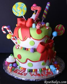 Decor http://rosebakes.com/holly-jolly-christmas-birthday-cake/ decorated by Rose Atwater from
