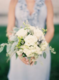 rose wedding bouquets dusty miller | Rose Dusty Miller and Hydrangea Bouquet - Elizabeth Anne Designs: The ...