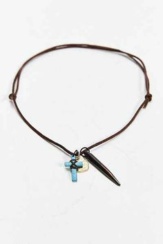 Leather Charm Necklace - Urban Outfitters