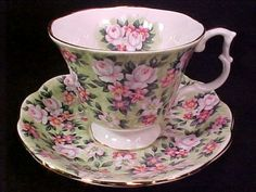Royal Albert Blossom Rose Chintz Cup and Saucer Royal Albert, Tea Cup Saucer, Tea Cups, Coffee Cups, Vintage Cups, Vintage China, China Tea Sets, Cuppa Tea, Teapots And Cups