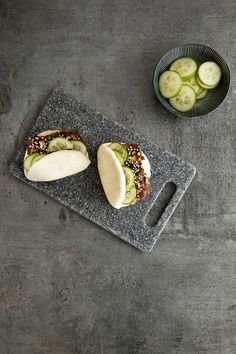 Steamed Buns With Tempura King Oyster Mushrooms And Agave ...