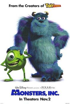 Monsters, Inc. looking at this makes me feel inexplicably happy :)