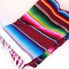 Vintage Technicolor Mexican Serape Blanket/Throw by LaGypsyYaya, $68.00