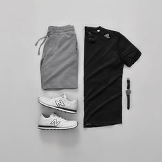 Men Casual T-Shirt Outfit 🖤 Very Attractive Casual Outfit Grid, Stylish Mens Outfits, Tomboy Outfits, Tomboy Fashion, Casual Outfits, Summer Outfits, Men Casual, Mens Fashion, Style Fashion, Fashion Menswear