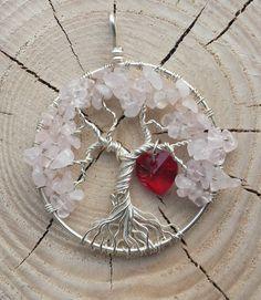 Love Tree of Life Pendant by MyCraftCrayze on Etsy