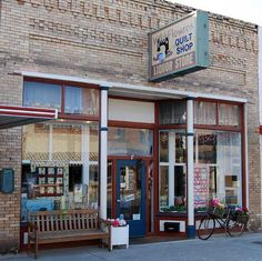 Ritzville, Washington: local quilt shop and liquor store (really)