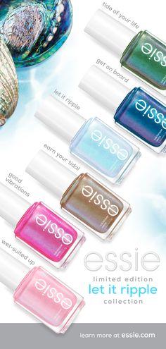 Fancy Nails, Love Nails, Pink Nails, How To Do Nails, Pretty Nails, Essie Nail Polish Colors, Nail Polishes, Manicures, Nail Tips