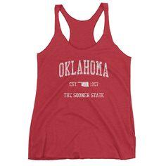 Vintage Oklahoma OK Women's Racerback Tank Top - JimShorts