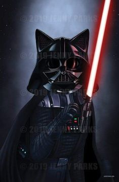 Star Wars Film, Star Wars Art, I Love Cats, Crazy Cats, Cool Cats, Bad Cats, Cat People, Star Wars Humor, Funny Animal Pictures