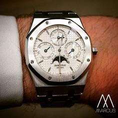 AudemarsPiguet Royal Oak Perpetual Calendar on stainless steel. How can something so complicated be so thin?