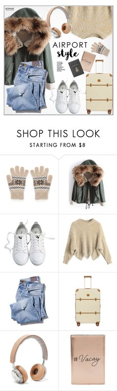 """""""Airport Style"""" by monmondefou ❤ liked on Polyvore featuring Bric's, B&O Play, Miss Selfridge, Mark Cross, GREEN and airportstyle"""