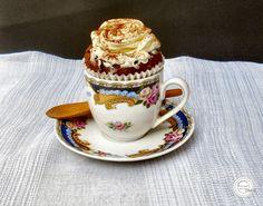 Coisas simples são a receita ...: Cupcakes de capuccino e creme de queijo