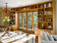 Natural Design - Functional and Stylish Wall-to-Wall Shelves on HGTV