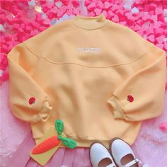 $22.94 US from ebay store yilv445 Japan-Style-Strawberry-Embroidery-Sweater-Mori-Girl-Loose-Pullover-Lolita-Tops