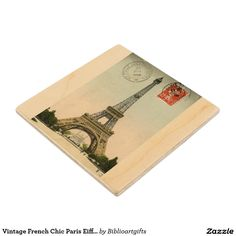 Keep your table protected with Eiffel Tower coasters from Zazzle! Discover an amazing range of designs for any occasion or personalize with your own photos and text. Wood Coasters, Drink Coasters, French Chic, French Vintage, Paris Eiffel Tower, House Design, Home Decor, Wooden Ship, Decoration Home